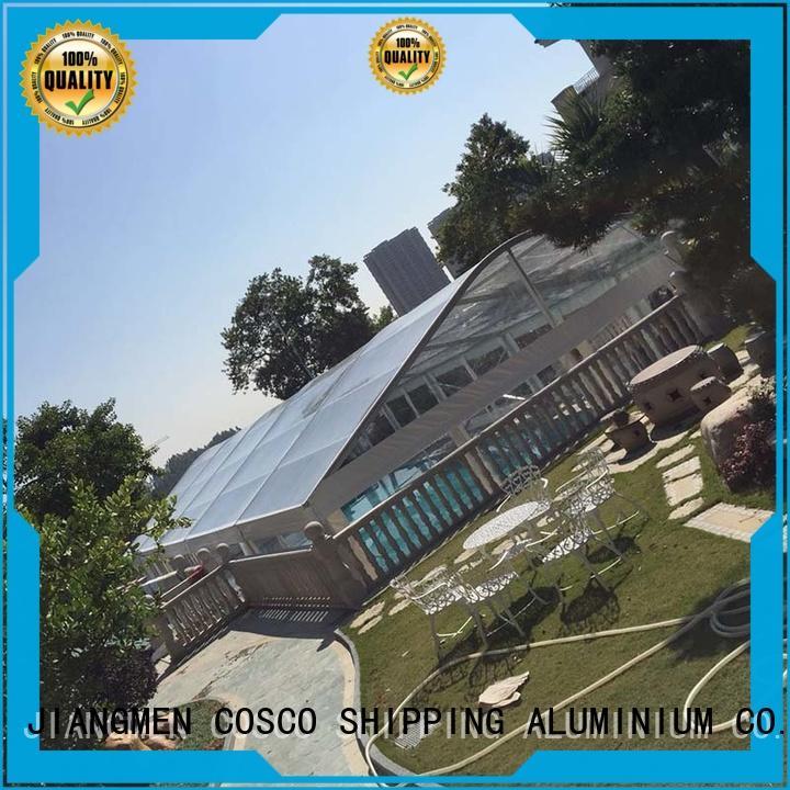 COSCO outdoor aluminium tent owner rain-proof