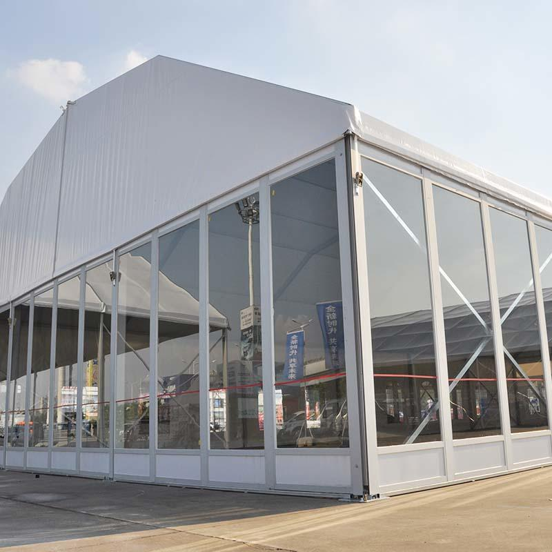 Polygon Tent Glass Walls Structure Tent for Sale