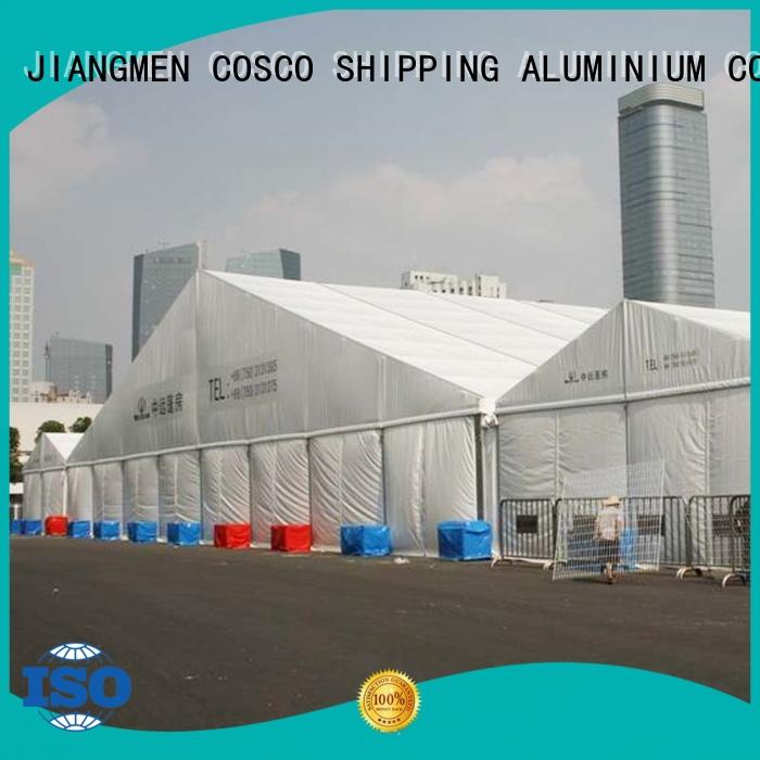 COSCO or aluminum structure tent owner Sandy land