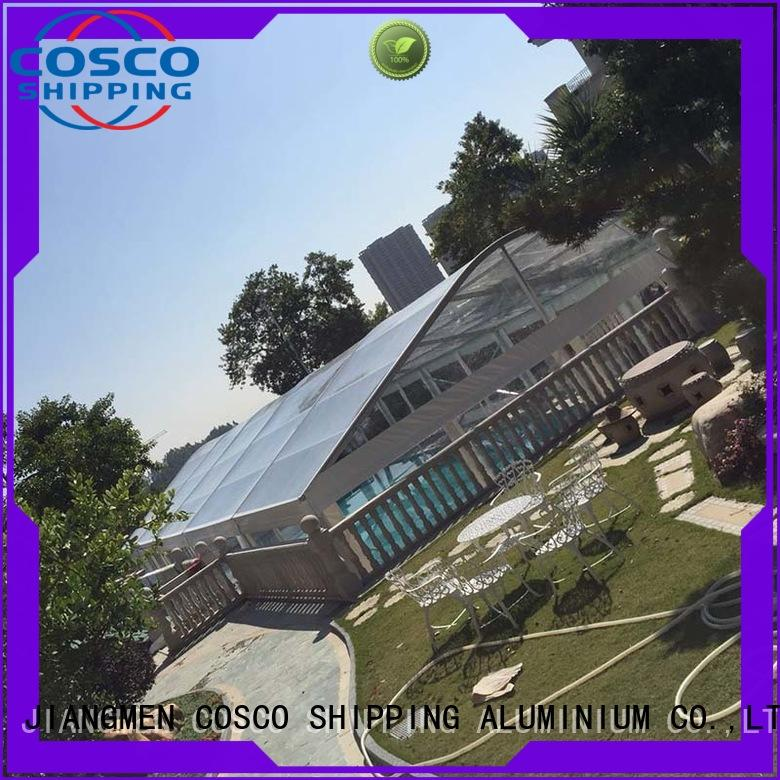 COSCO newly aluminium tent in different shape snow-prevention