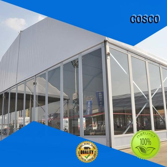 COSCO superior polygonal marquee tent in different shape cold-proof