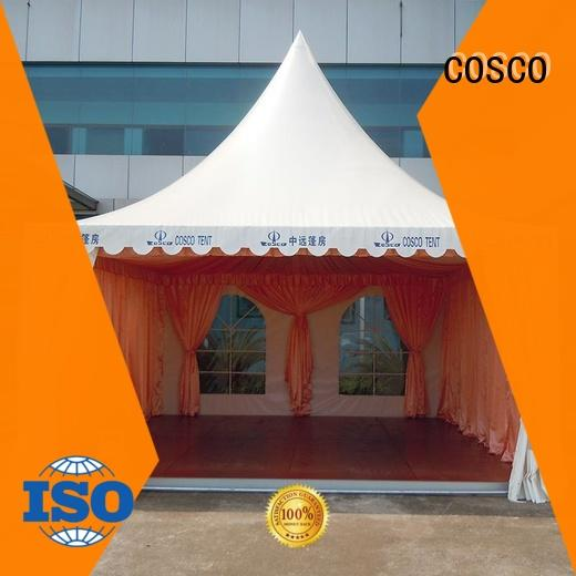COSCO canopy pagoda tents for sale supplier for engineering