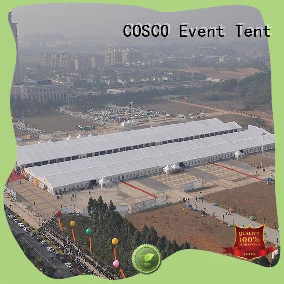 COSCO polygon event tent marketing for engineering