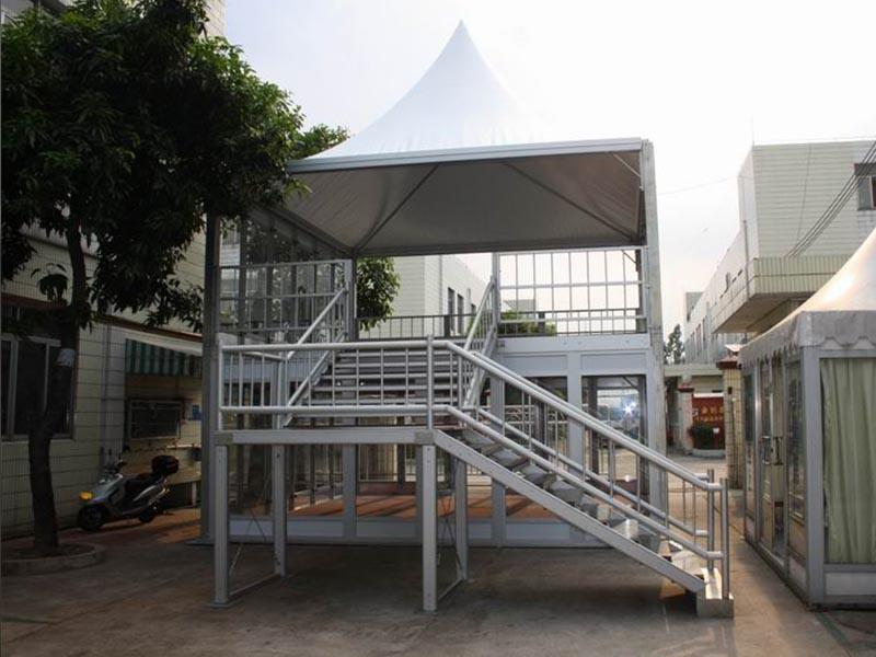 large two decker clear party tent COSCO manufacture