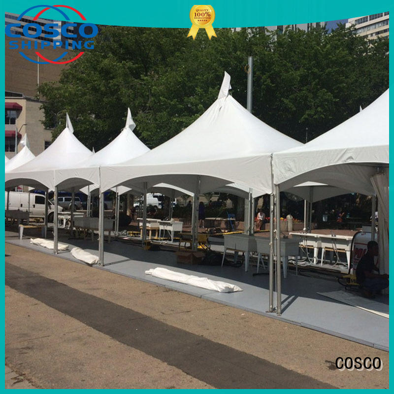 frame Custom structure marquee clear frame tent COSCO glass