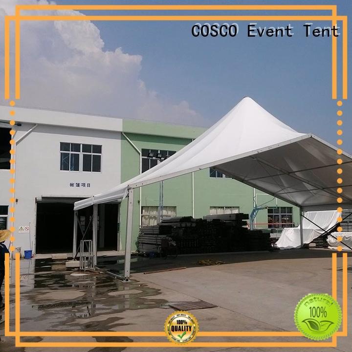 COSCO aluminium high peak tent China dustproof