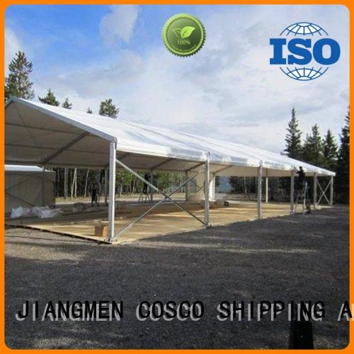 COSCO marquee party tent marketing for engineering