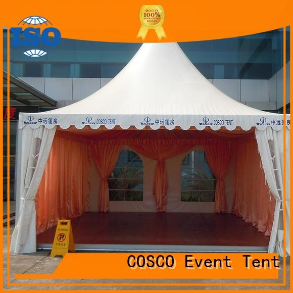 COSCO quality pagoda tent for disaster Relief