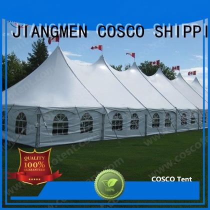 COSCO sale peg and pole tents for sale China for disaster Relief