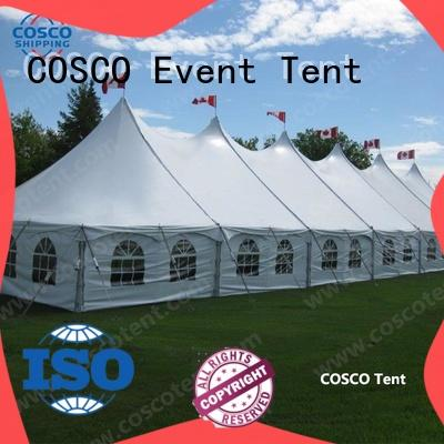 COSCO sale peg and pole tents popular for disaster Relief