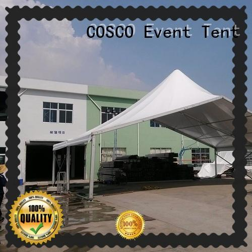 pvc aluminium cosco COSCO Brand high peak pole tents for sale factory