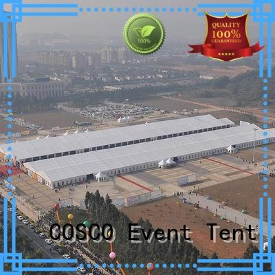 COSCO structure event tent owner Sandy land