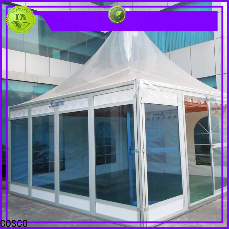 COSCO aluminium gazebo tents for sale long-term-use snow-prevention