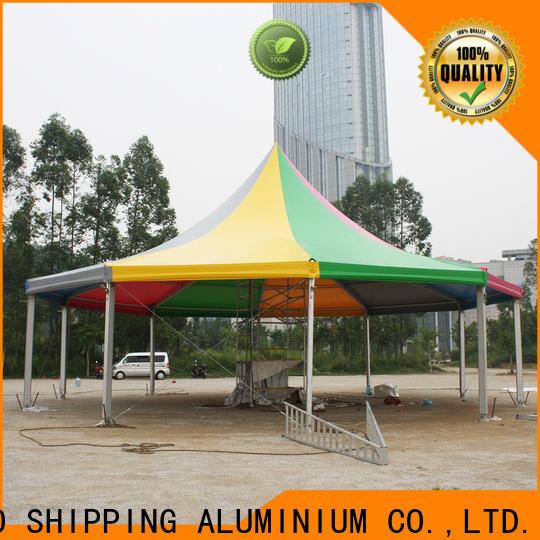 COSCO curved event tent vendor snow-prevention
