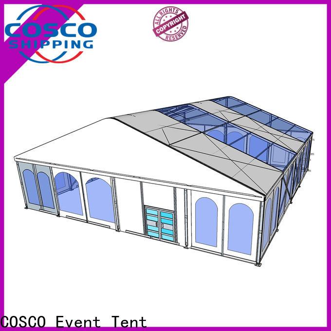 COSCO tent aluminum tent in different shape factory