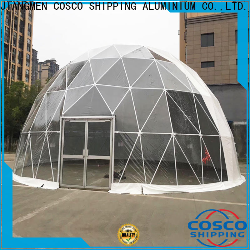 COSCO marquee dome tent in different shape cold-proof