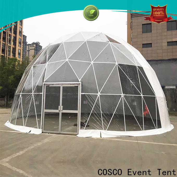 COSCO party geodesic dome tents popular for disaster Relief