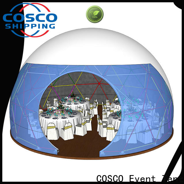 COSCO diamrter geodesic dome tents experts for disaster Relief