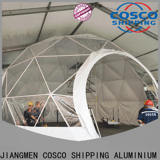 COSCO event geodesic dome tent effectively rain-proof