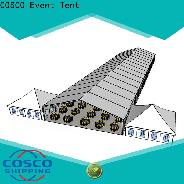 COSCO structure frame tents for sale marketing