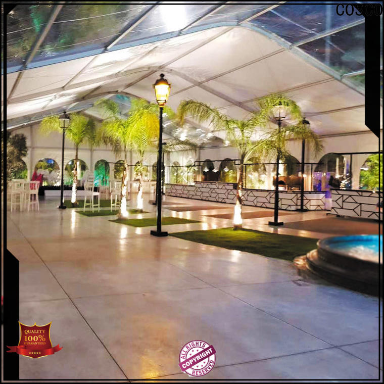 COSCO exquisite large event tents for sale owner rain-proof