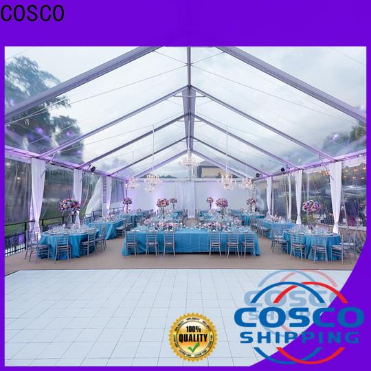 COSCO tent buildings Sandy land