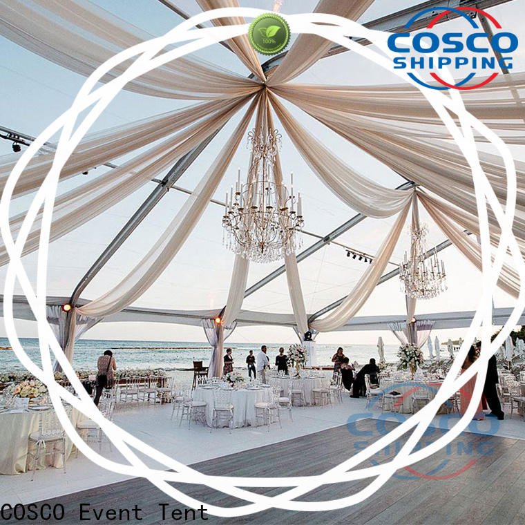 COSCO party tent buildings cost for holiday