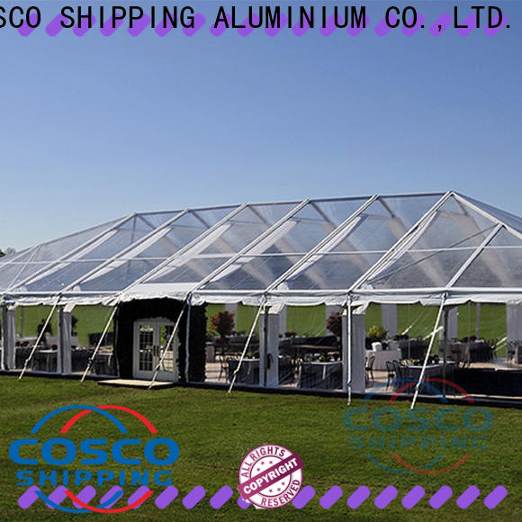 COSCO aluminium big party tents owner for engineering