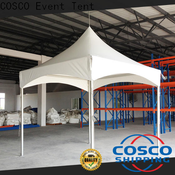 COSCO peg and pole steel gazebo vendor for engineering