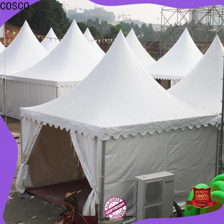 COSCO aluminium screened gazebo effectively rain-proof