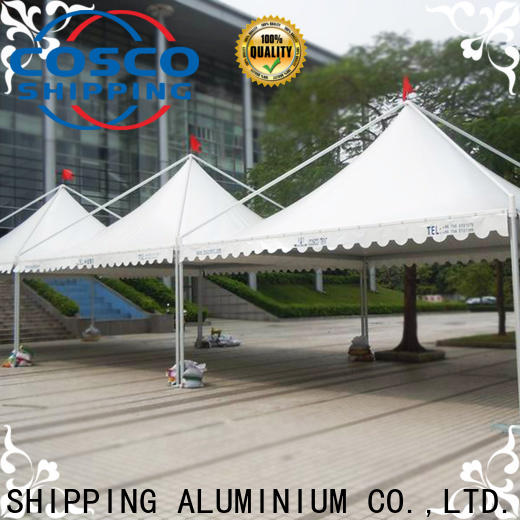 COSCO peg and pole white gazebo supply for disaster Relief