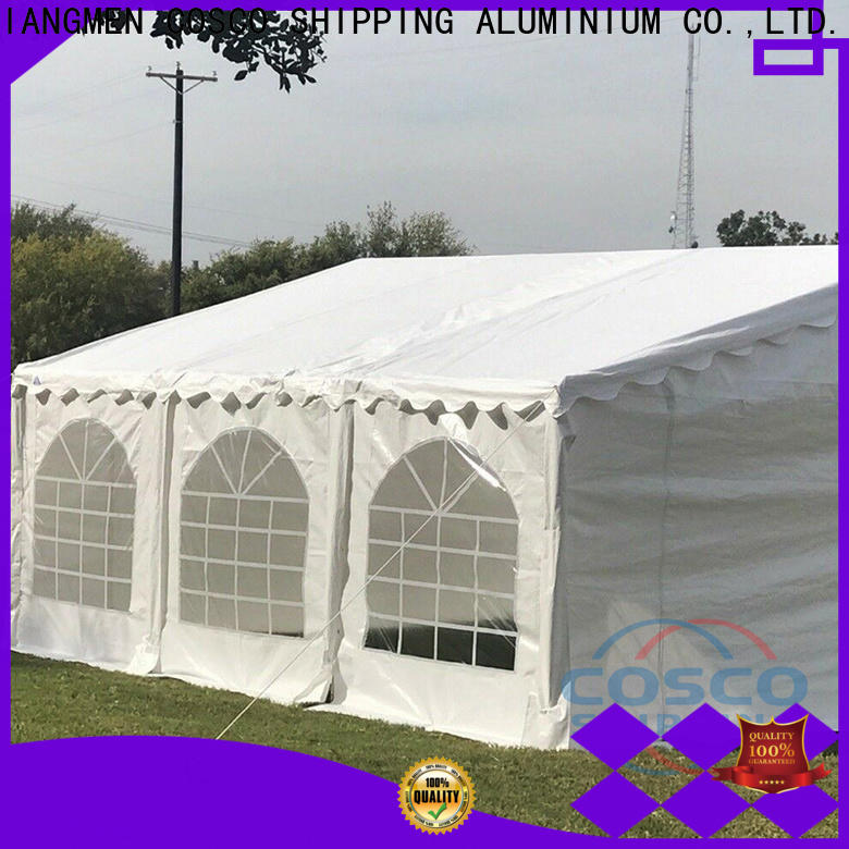 COSCO reasonable steel gazebo effectively for disaster Relief