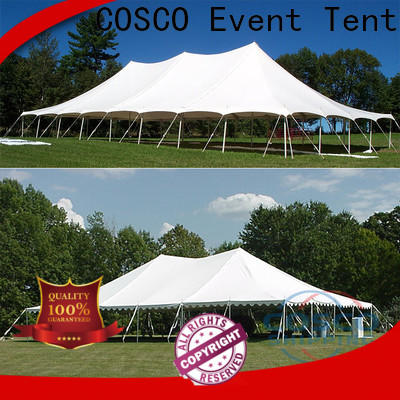 COSCO inexpensive peg and pole tent effectively grassland
