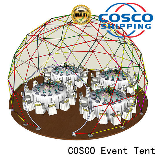COSCO party geodesic dome tents owner for disaster Relief