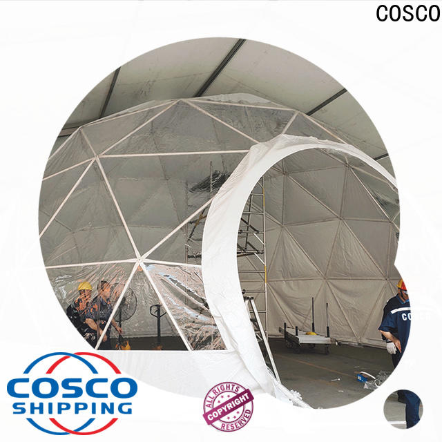 COSCO tent dome tents for sale supplier for disaster Relief