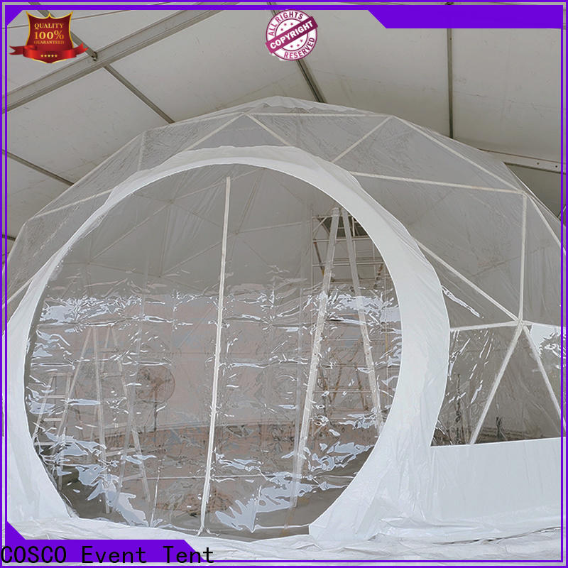 COSCO aluminum dome tents for sale China grassland