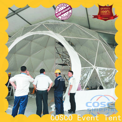 COSCO available dome tents for sale popular for disaster Relief