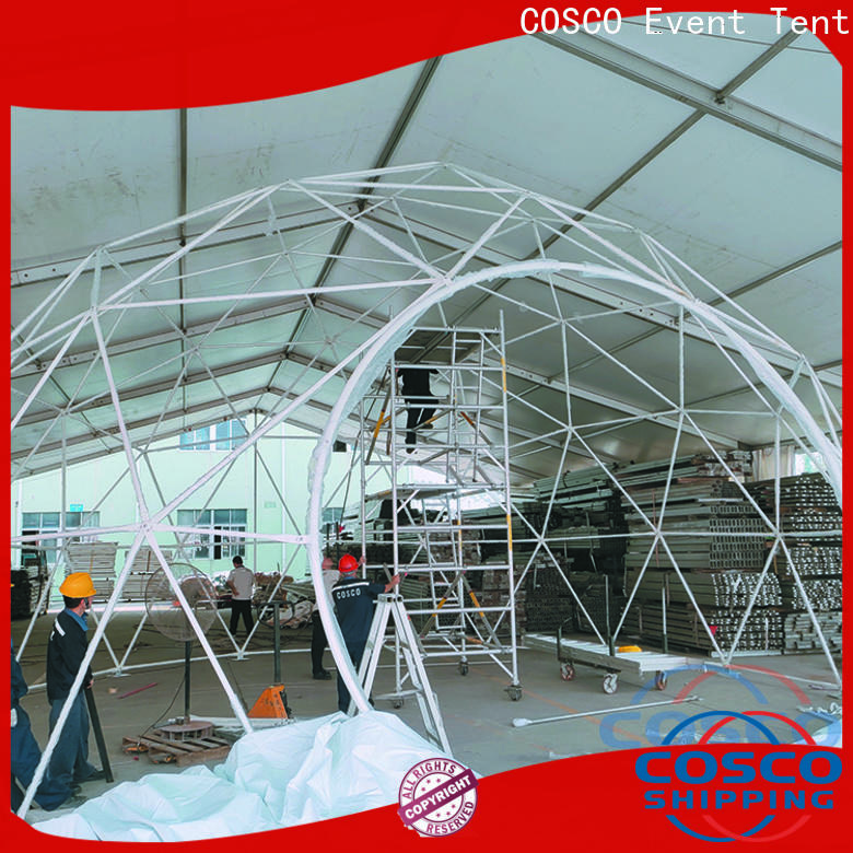 COSCO marquee geodesic dome tents certifications dustproof