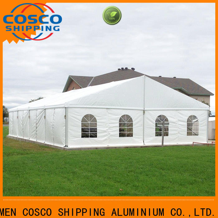 COSCO exhibition party tents for sale near me type for disaster Relief