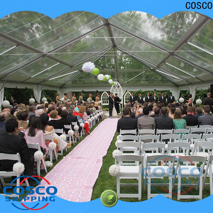 COSCO aluminium structure tent price for holiday