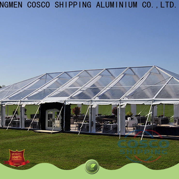 COSCO commercial clear span tent supplier for engineering