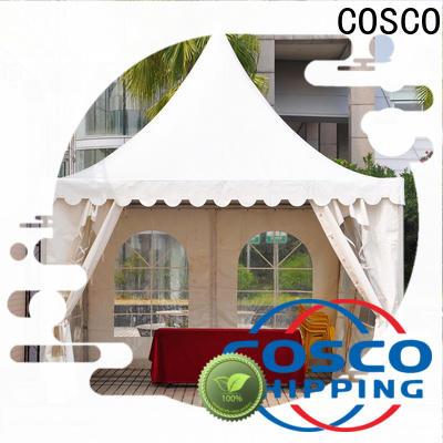 COSCO aluminum white gazebo popular for disaster Relief