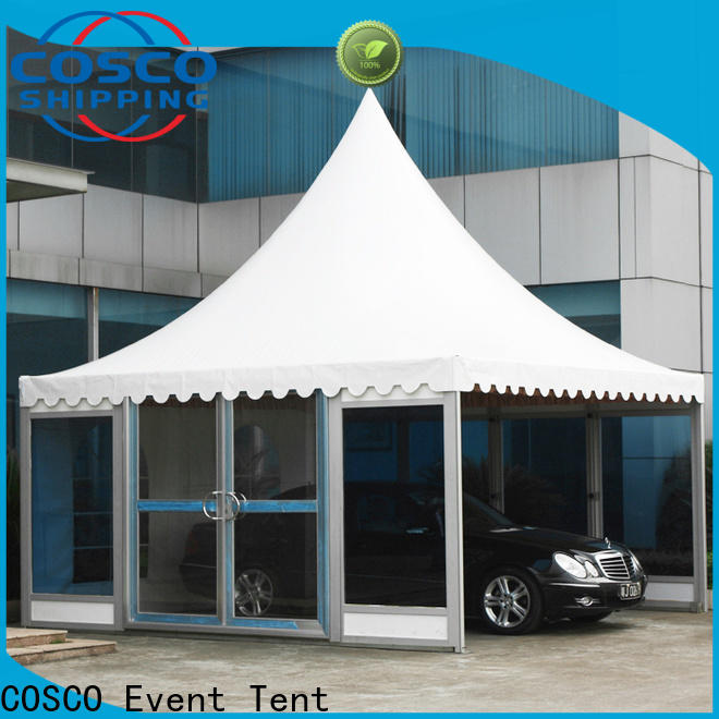 COSCO exhibition screened gazebo long-term-use dustproof
