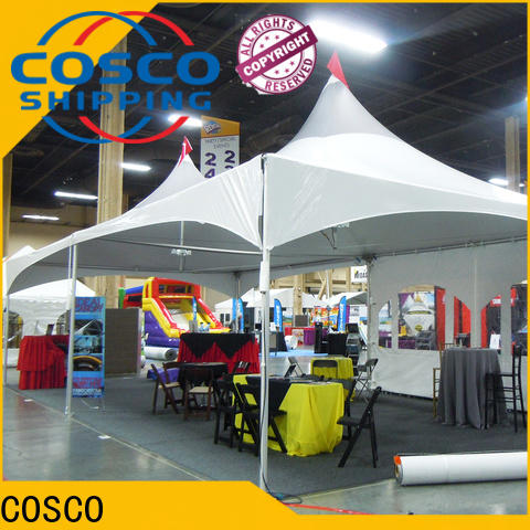 COSCO derive military tents popular for wedding