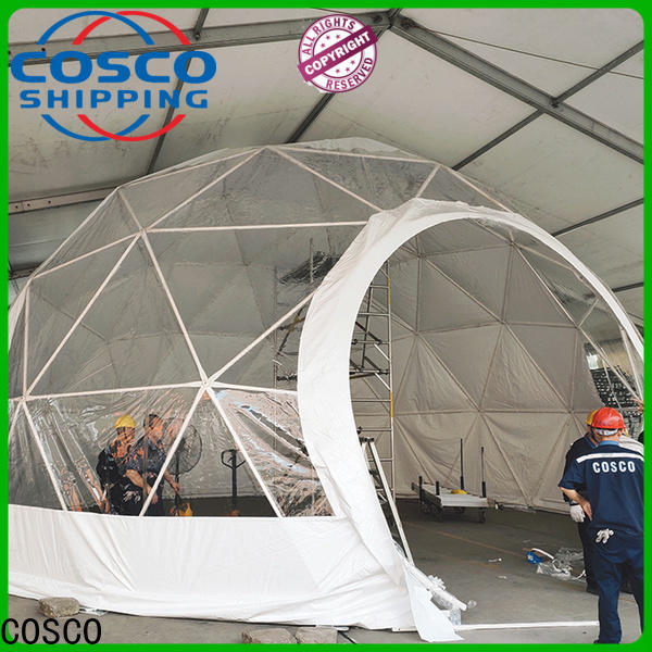 COSCO curved geodesic dome tents in-green for holiday