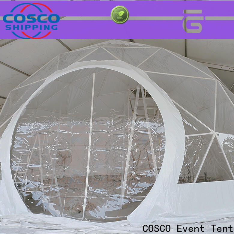 COSCO polygon geodesic dome tent effectively cold-proof