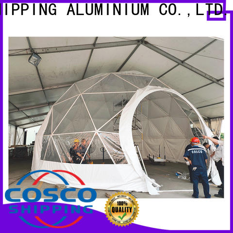 COSCO dome event tents for sale 中远 Sandy land