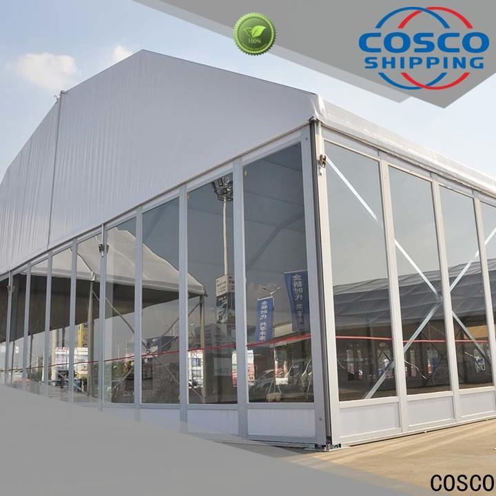 COSCO glass tent rental producer dustproof