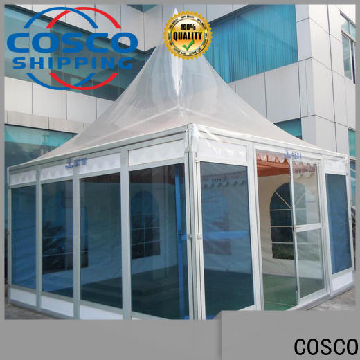 COSCO peg and pole screened gazebo in-green grassland
