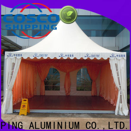 COSCO curved party gazebo vendor for disaster Relief